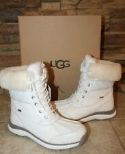 NIB UGG Women's ADIRONDACK III Leather Quilted Winter Waterproof Boots WHITE