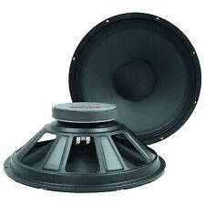 """2 15"""" Raw Speakers/Woofers Replacement Pro Audio Pa/Dj"""