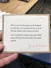 James A. Michener - Autograph Letter Signed