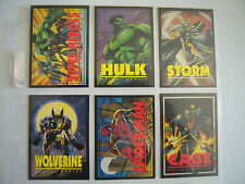 MARVEL CRUNCH'N MUNCH SERIE 2   6 CARDS   1993 TBE