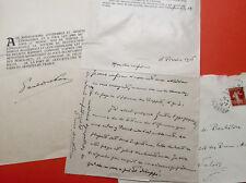 Paul DUKAS - Lettre autographe et pièce signée