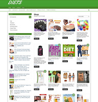 DIETS UK WEBSITE WITH ONE YEARS HOSTING - ECOMMERCE BUSINESS - NEW DOMAIN