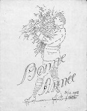 GUERRE 14/18 CARTE DE VOEUX ETAT MAJOR CHASSEUR ALPIN ? 31 DECEMBRE 1918