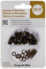 Eyelet and Washer - Brass - 60 Pieces (30 eyelets & 30 washers)