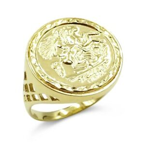 St George Ring Gold 9ct Gold