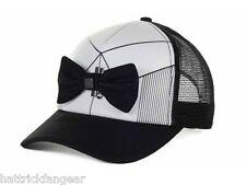 QUIKSILVER DIGGLER BOWTIE MESHBACK TRUCKERS CAP/HAT - WHITE/BLACK - OSFM