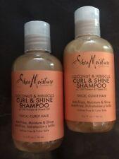 Shea Moisture Coconut & Hibiscus Curl Shine Shampoo lot of 2TRAVEL Set