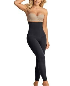 Leonisa Extra High Waisted Firm Compression Legging Black Size L NEW $75 12901