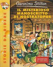 Geronimo Stilton Il misterioso manoscritto di nostratopus N.1  Piemme