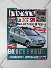 L'Auto-Journal 2002 n°587 Peugeot 307 SW Range Rover Alfa 166 Vel Satis S-Type