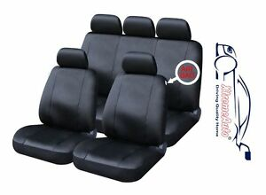 9 PCE Full Set of Black Leather Look Seat Covers for Audi A1 A2 A3 A4 A5 A6 A7
