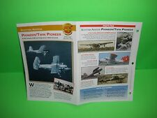 SCOTTISH AVIATION PIONEER/TWIN PIONEER AIRCRAFT FACTS CARD AIRPLANE BOOK 151