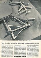1964 Lockheed Supersonic Jet Aircraft - Original Advertisement Print Ad J133