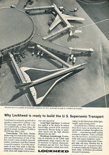 1964 Lockheed Supersonic Jet Aircraft - Original Advertisement Print Ad J133