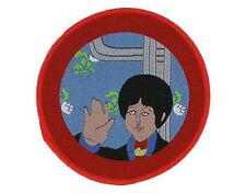 BEATLES yellow submarine - paul 2008 circular WOVEN SEW ON PATCH official merch