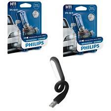 H11 WhiteVision 3700K Xenon-Effekt +60% mehr Licht 2St Philips + USB Licht