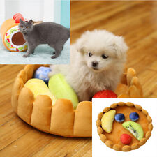 Pet Dog Fruit Tart Pad Keep Warm Kennel Plush Cat Sleep Mat Nest House WS