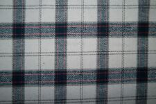 White and Navy Woven Plaid #03 Apparel Fabric Bottom Weight BTY