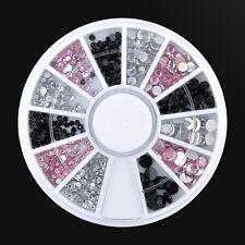 3 Colors AB Crystal Rhinestone Crystal Decoration DIY 3d Nail Art Wheel Tips