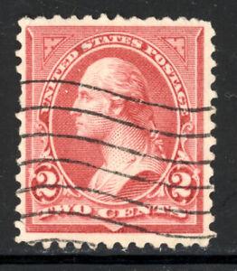 SCOTT 266 1895 2 CENT WASHINGTON REGULAR ISSUE TYPE II USED F-VF!