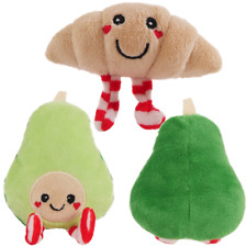 Festive Catnip Cat Toys Jingling Jangling Croissant Crinkly Crunchy Avocado Xmas