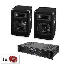 """DJ PA Set mit Paar 6,5"""" Subwoofer LAutsprecher & einem passenden 300W Verstärker"""