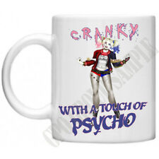 Harley Quinn Cranky Psycho Womens Gifts For Mum Mom Novelty Tea Coffee Mug Cup