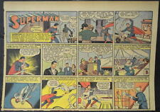 SUPERMAN SUNDAY COMIC STRIP #28 May 12, 1940 2/3 FULL Page DC Comics RARE