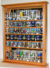72  Shot Glass Shooter Display Case Rack Wall Cabinet, Glass Door, SC13-OA