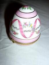 Ceramic Egg Trinket Container