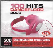 COFFRET 5 CD (BOX SET) 100 HITS DANCEFLOOR 2009 KATY PERRY/PITBULL/GUETTA...NEUF