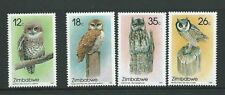 Mint Never Hinged/MNH Owls Zimbabwean Stamps (1965-Now)