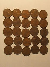 1/2 Roll 1932 D Lincoln Wheat Cents Penny in Good or Better Condition 25 Coins