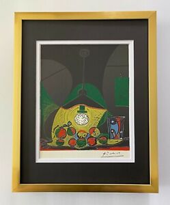 PABLO PICASSO 1955 SIGNED SUPERB LINOCUT MATTED 11 X 14 + LIST