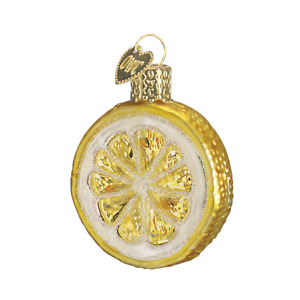 Old World Christmas LEMON SLICE (28001)N Glass Ornament w/ OWC Box