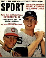 1962 (Apr.) Sport magazine Baseball, Norm Cash, Tigers, Vada Pinson, Reds ~ VG