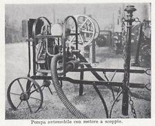 D6609 Pompa automobile con motore a scoppio - Stampa d'epoca - 1909 old print