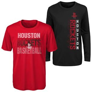 Outerstuff NBA Youth (8-20) Houston Rockets Performance T-Shirt Combo