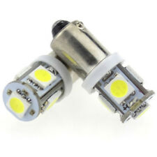 1 Pair of Car Scooter White 6V BA9S T4W-1895-5SMD LED Side Lights Lamps Bulbs