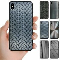 For OPPO Series - Steel Iron Metal Print Pattern Mobile Phone Back Case Cover