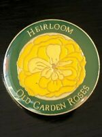 Collectible Vintage Heirloom Old Garden Rose Pinback Lapel Pin Hat Pin