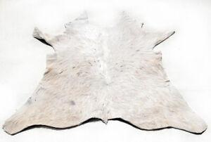 """Rare Cowhide Rugs Calf Hide Cow Skin Rug (28''x30"""") White & Beige CH8478"""