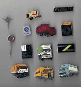 JOB LOT COLLECTION Lorry Truck pin badges ROVER FIAT DAF KENWORTH LEYLAND