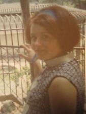 "VINTAGE SUMMER OF '69 REDHEAD BABY BUMP ""JODY GOT MARRIED"" BROWN BEAR ZOO PHOTO"