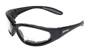Hercules Bifocal Reading Reader Clear/Smoke Safety Glasses Padded Sun Anti Fog