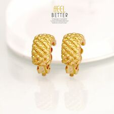 Rings`Ears Clip on Pliers Golden Half Ring Metal Engraving Class J8
