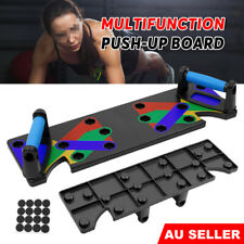 9 In1 Push up Rack Board System Fitness Gym Workout Train Exercise Pushup Stands