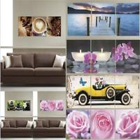 3D Triptych Wall Sticker 6 Patterns Removable Home Decor Mural Art CN59