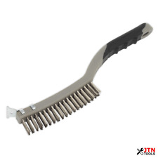 Sealey WB105 Stainless Steel Wire Brush with Scraper 345mm