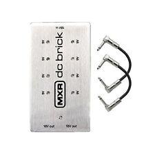 MXR M237 DC Brick FX Pedal Power Supply (8) 9v (2) 18v Outputs + Patch Cables
